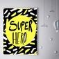 Super bohater na żółtym tle - plakat wymiar do wyboru: 59,4x84,1 cm