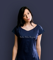Matka polka blogowa t-shirt damski granatowy xxl