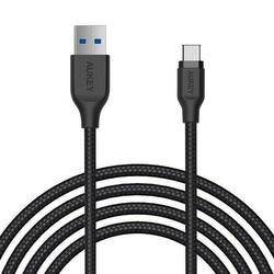 Aukey kabel quick charge cb-ac2 black nylonowy szybki usb c-usb 3.1 2m