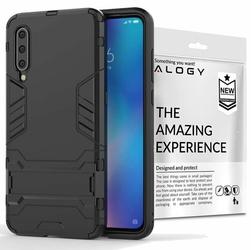 Etui Alogy Stand Armor Case do Xiaomi Mi 9 czarne + szkło