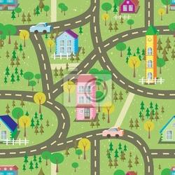 Fototapeta kolorowe miasto szwu
