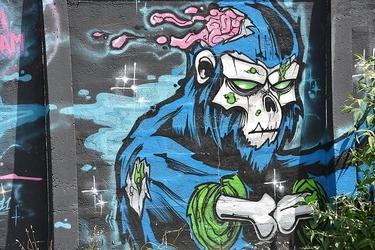 Fototapeta graffiti potwór fp 1286