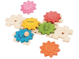 KOŁA ZĘBATE drewniane puzzle