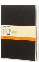 Zeszyty moleskine cahier journals xl 3 szt. w linie czarne