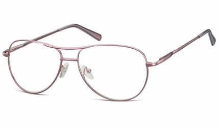 Okulary oprawki dziecięce zerówki pilotki mk1-49e fioletowe