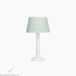Lampka nocna roomee decor - biała w miętowe gwiazdki