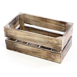 Drewniana skrzynka divero vintage s pudełko na wino staubox pudełko na owoce brązowe 42 x 23 cm