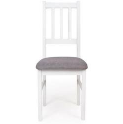 Zestaw do jadalni tabo ii stół 140-180x80 cm 6 krzeseł białyszary