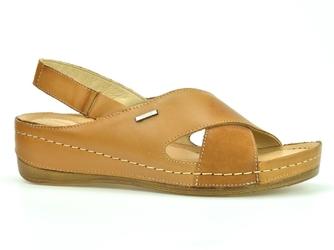 Sandały  wasak 0409s rudy + rudy nubuk