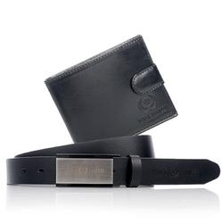 Zestaw upominkowy: portfel męski paolo peruzzi 018pp + pasek męski paolo peruzzi mb005