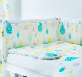 Ochraniacz do łóżeczka - pastelowe krople