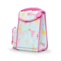 Plecak lunchbox z osobną kieszonką na picie, ananasy, miętowo-różowy, penny scallan