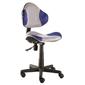 Fotel obrotowy q-g2 szaro-niebieski