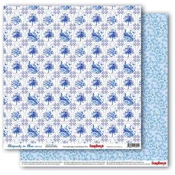 Uroczy papier Rhapsody in Blue 30x30cm DutchMosaic - 02