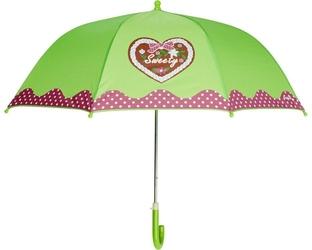 Parasol, domek, zielony, playshoes