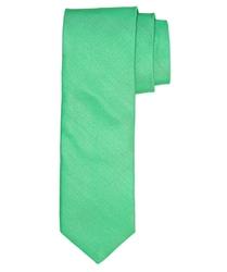 Zielony jedwabny krawat profuomo