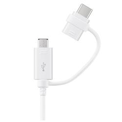Samsung kabel combo type-c  microusbwhite