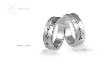 Obrączki srebrne - wzór ag-036