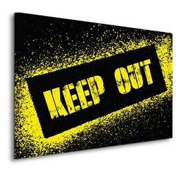 Keep out - obraz na płótnie