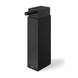 Zack - linea - dozownik do mydła stojący, czarny