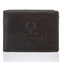 Super cienki portfel męski paolo peruzzi skórzany czarny