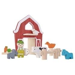 Farma zestaw drewnianych figurek