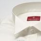 Elegancka śmietankowa ecru koszula smokingowa z łamanym kołnierzykiem - slim fit 48