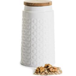 Pojemnik kuchenny duży z dębową pokrywą, ceramiczny Sagaform Nature SF-5017745