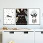 Zestaw plakatów dziecięcych - awesome dream , wymiary - 40cm x 50cm 3 sztuki, kolor ramki - biały