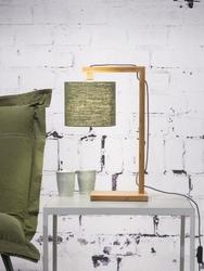 Goodmojo :: lampa stołowa drewniana himalaya 18x15cm zielona