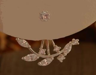 Alaska - srebrne kolczyki z kryształkami swarovski