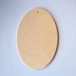 Drewniana zawieszka owalna 10x15 cm - 10X15CM