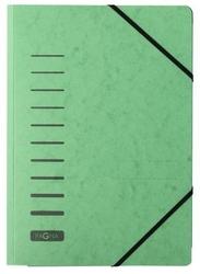 Teczka z preszpanu z narożnymi gumkami - zielona   1 szt.