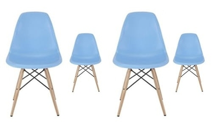 Zestaw 4 nowoczesne krzesło modern dsw retro niebieski