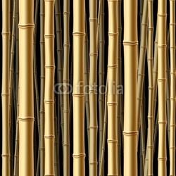 Obraz na płótnie canvas czteroczęściowy tetraptyk bez szwu las bambusowy.