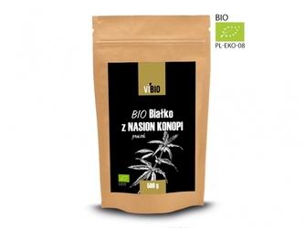 Ekologiczne białko z nasion konopi bio białko z konopii 500g