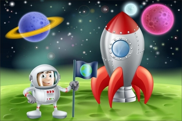 Fototapeta dla dzieci kosmos 1350