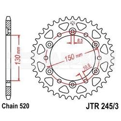 Zębatka tylna stalowa jt 2453-47, 47z, rozmiar 520 2300441 yamaha yzf 750