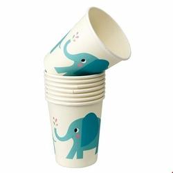 Kubki papierowe 8 szt., Słoń Elvis, Rex London - słoń elvis