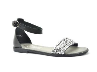 Sandały lemar 40126 bf. czarny + pasek srebrny