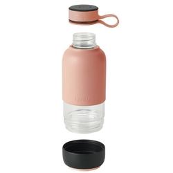 Butelka szklana na wodę 0,6 litra to go lekue różowa 0302018r06m017