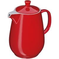 Porcelanowy, czerwony dzbanek do kawy roma cilio 1,2 litra ci-215410