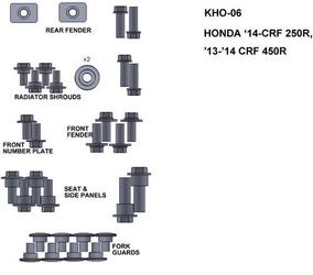 Keiti kho-06 zestaw śrub hondy 14-crf 250r 13-14 c