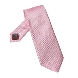 Elegancki jasnoróżowy krawat jedwabny van thorn o prostym splocie