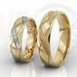 Obrączki ślubne z żółtego złota, damska z diamentami para ob-07z-r-d