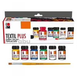 Zestaw farb do tkanin 6x15ml marabu textil plus