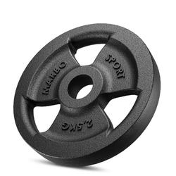 Obciążenie żeliwne 2,5 kg mw-o2,5-kier - marbo sport