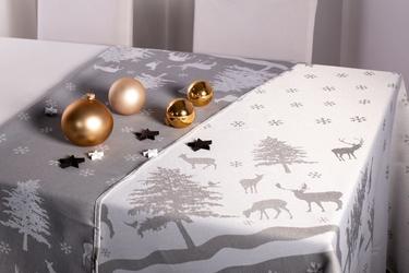 Obrus na stół świąteczny boże narodzenie altom design dwustronny, dekoracja skandynawia 160 x 240 cm