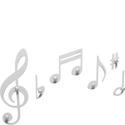 Wieszaki ścienne Verdi CalleaDesign białe 51-13-1-1