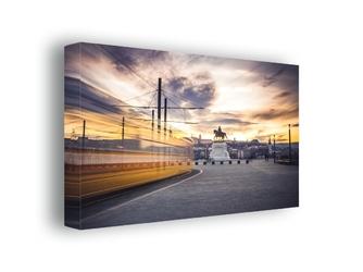 Budapeszt, zachód słońca - obraz na płótnie wymiar do wyboru: 100x70 cm